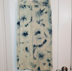 ZARA Tye-dye blue skirt